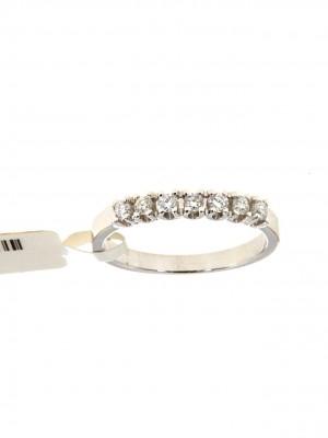 Fedina in oro bianco con sette diamanti taglio brillante - fed-291