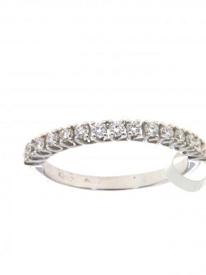 Fedina in oro bianco con quindici diamanti - fed-106